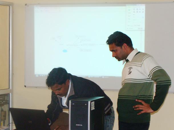 Dr. Vimlesh Yadav and Dr. Yogesh Kumar of IITK providing the guidelines for KM